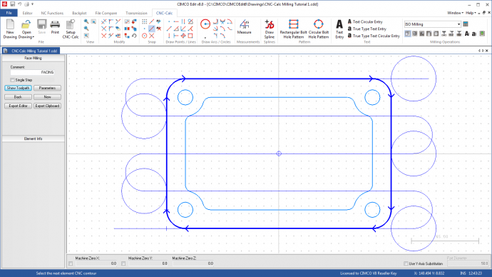 Overview cimco cnc calc cimco Simple 2d cad